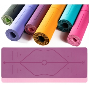 TPE Yoga Mat with Position Line Non Slip